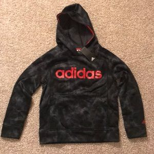 NWT Adidas Boys Pullover Hoodie Sweatshirt 10/12